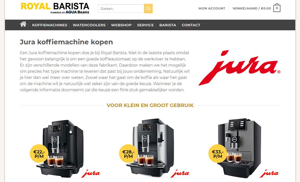 royal barista webshop