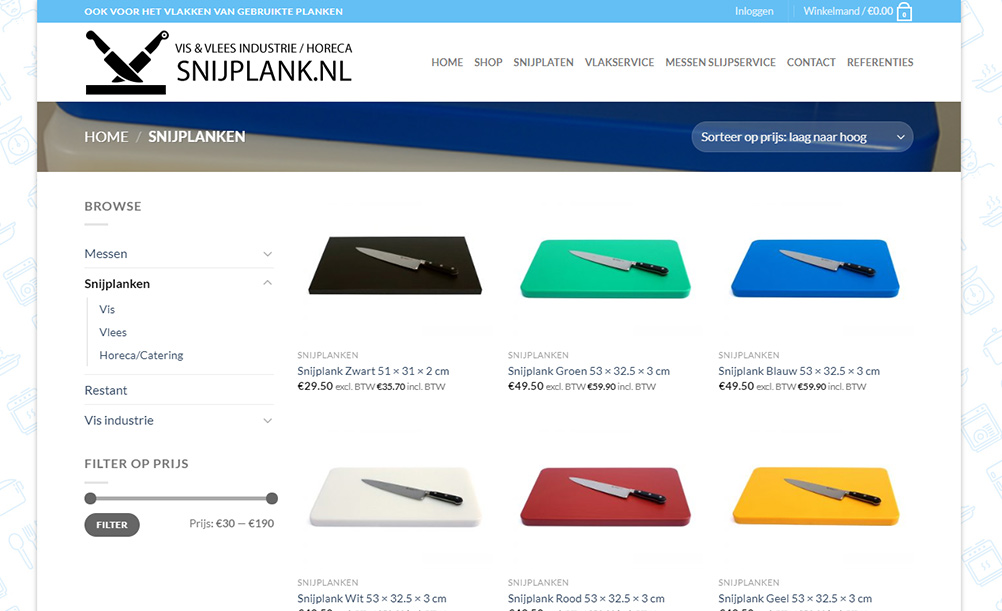 snijplank-wordpress-website